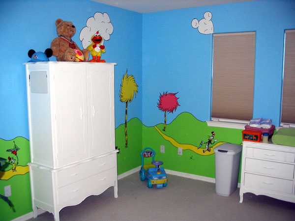 Child's Bedroom with Mural - 2